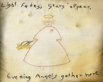 Angels Gather Here-Art Print (8x10 matted to 11x14)