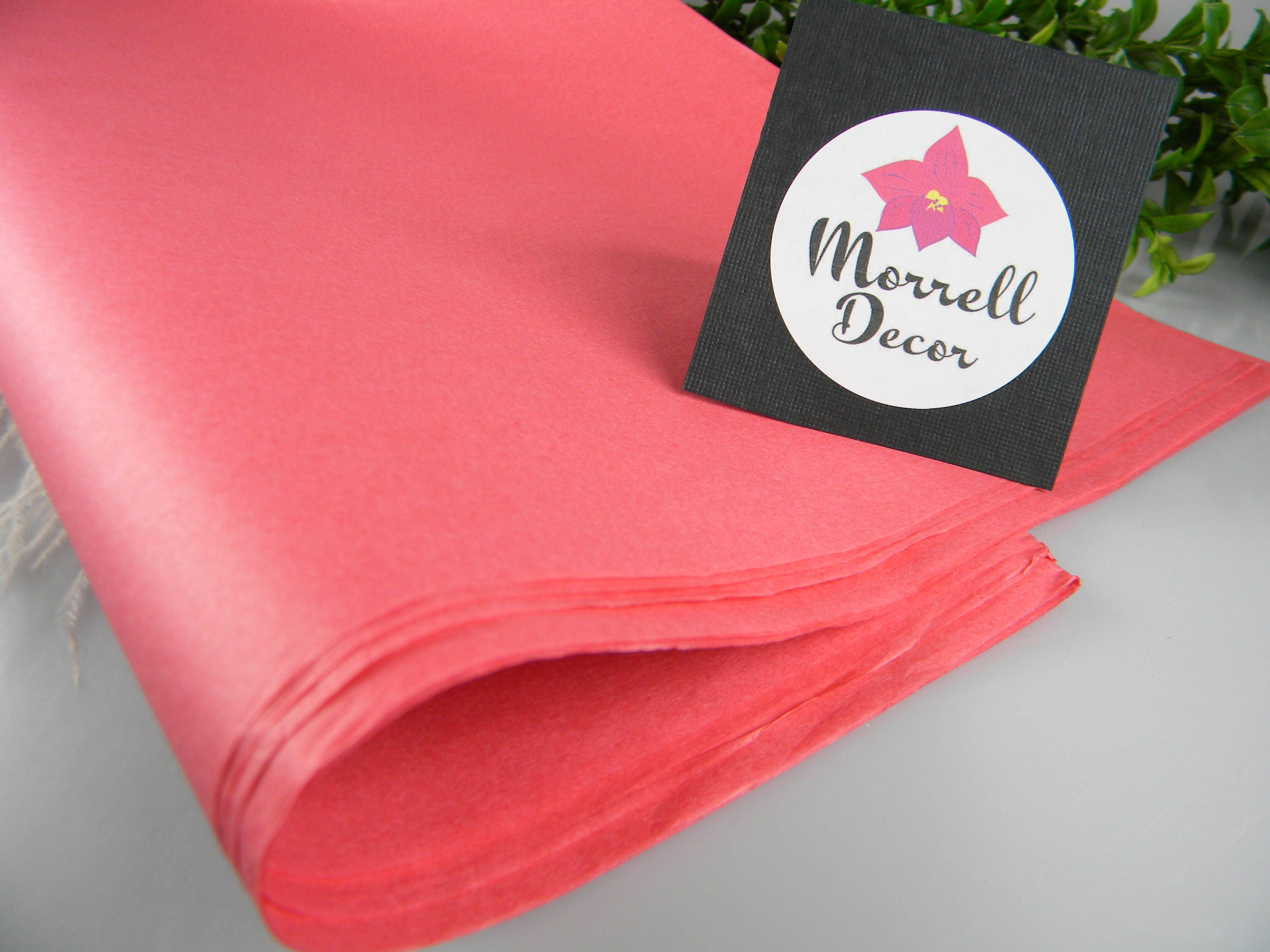 Coral Pink Tissue Paper, Coral Wedding Decoration, Coral Packaging ...