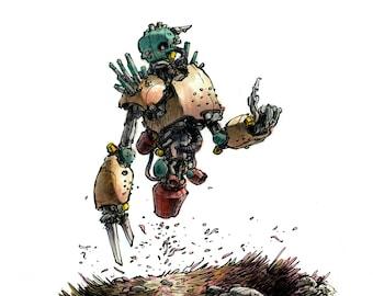 Robo Wraith 5x7 Art Print
