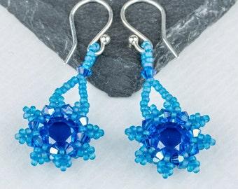 Sparkly Swarovski Drop Earrings