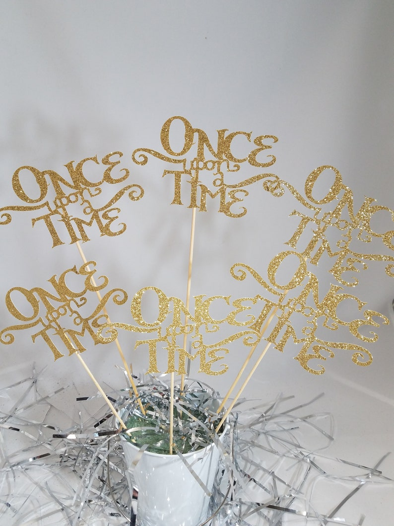 6 Once Upon A Time Centerpiece Sticks Princess Party Etsy