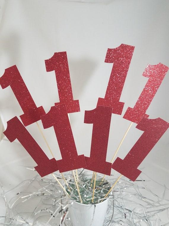 Red First Birthday Centerpiece Ideas First Birthday Etsy