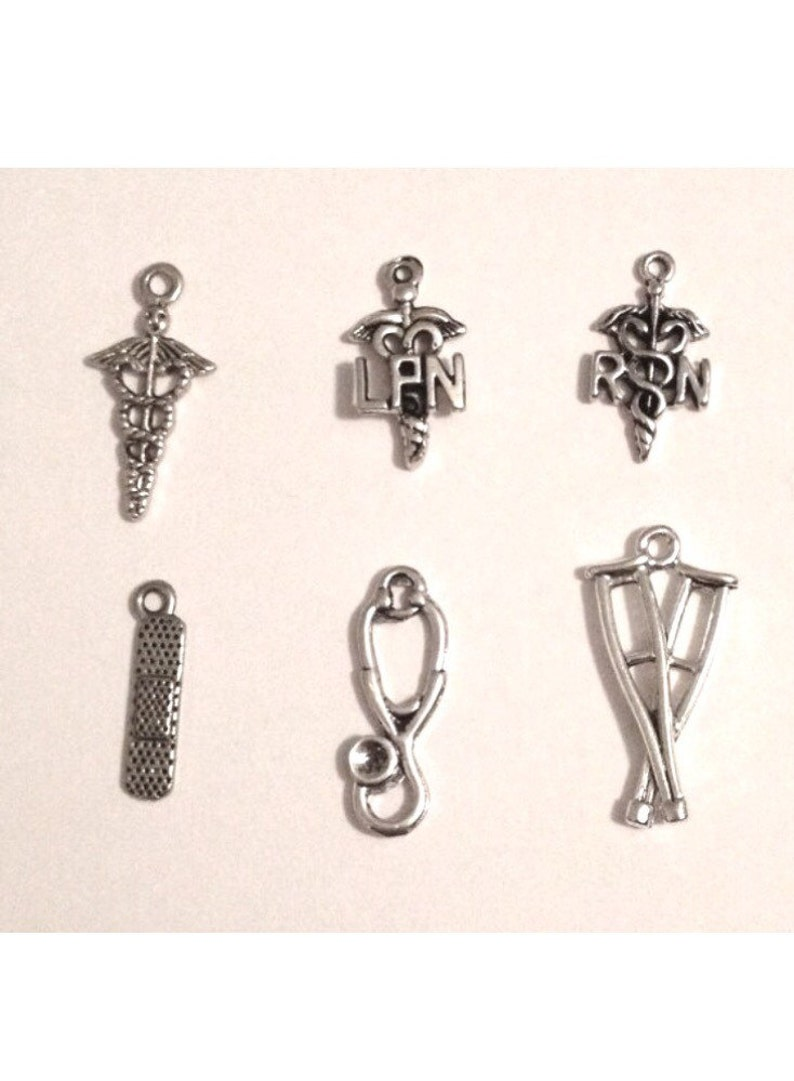 Band aid mom and Caduceus Charms gifts for her Handmade Jewelry Nurse Athletic Trainer Medical Doctor Lariat Necklace with Heart