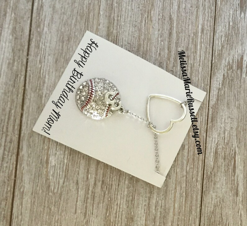 Football Sports Gift Mom Lariat Necklace