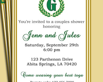 Laurel invitation etsy laurel leaf invitation pick colors customized for your party adult birthday toga party couples wedding shower stopboris Images
