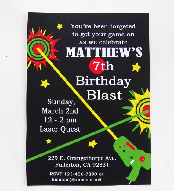 Clever image within laser tag birthday invitations free printable