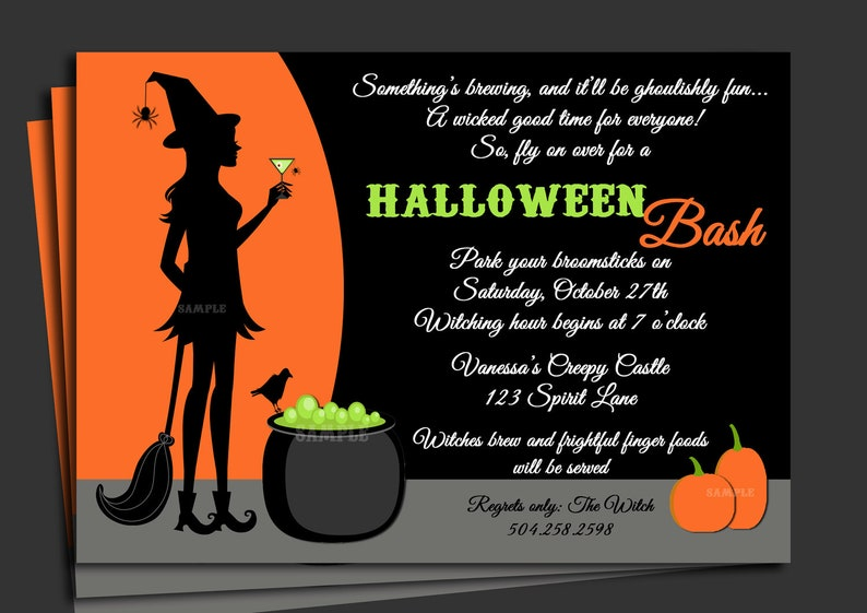 photo about Free Halloween Invitations Printable called Halloween Invitation Printable with No cost Shipping and delivery - Cocktails and Cauldrons