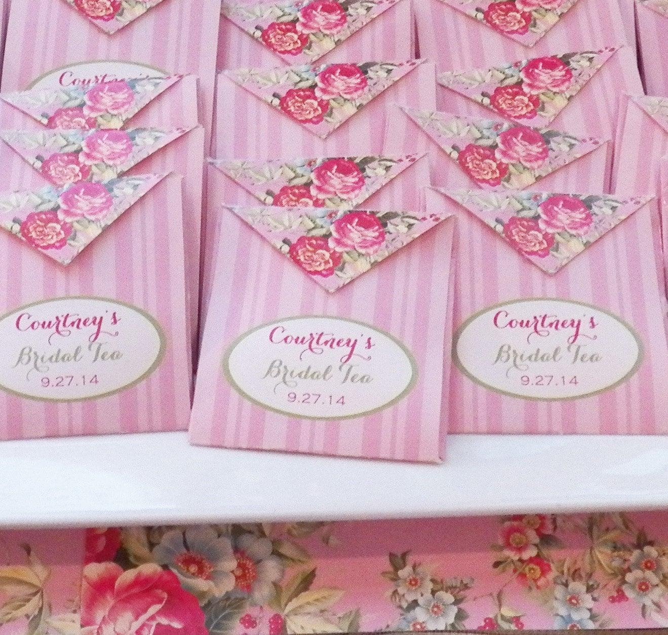 Personalized Tea Bag Favor Printable Bridal Tea Wedding | Etsy