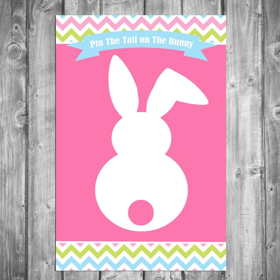graphic regarding Pin the Tail on the Bunny Printable called 50% OFF SALE - Pin the Tail upon the Bunny Match Printable