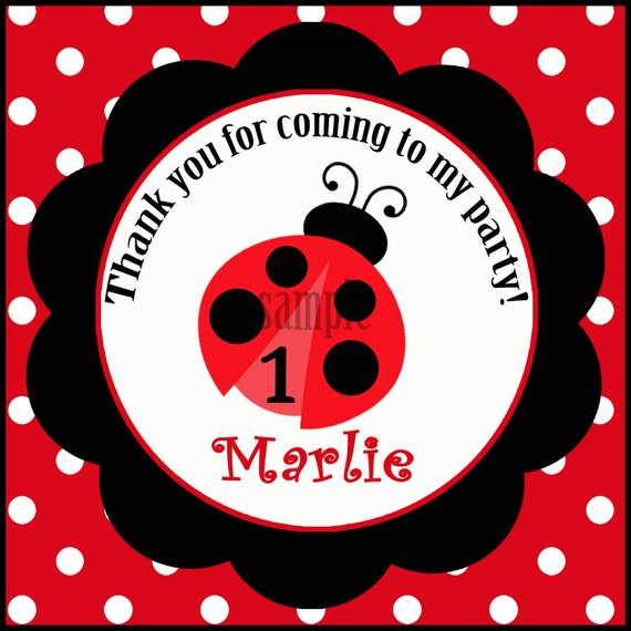 photograph regarding Ladybug Printable named Ladybug Want Tags Printable or Posted with No cost Transport - ANY Wording - My Small Female Assortment