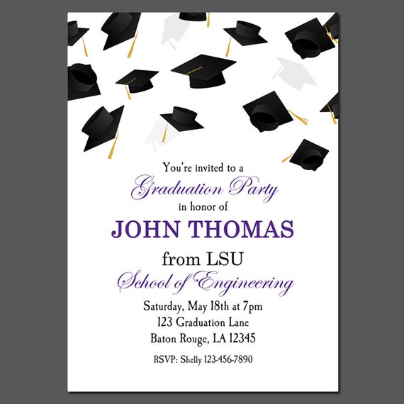 It is a picture of Free Printable Graduation Invitations throughout farewell dinner program