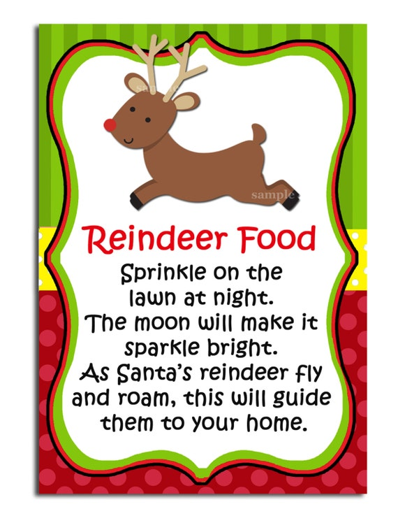 It is a graphic of Epic Reindeer Food Printable