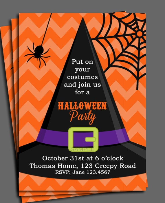 photograph relating to Free Halloween Invitation Printable called Halloween Invitation Printable or Posted with Cost-free Delivery