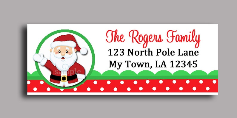 picture about Santa Labels Printable referred to as Xmas Santa Claus Labels Printable or Revealed - Printable Enclosure, Present Tag or Return Protect Label