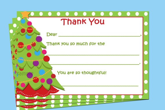 graphic about Christmas Thank You Notes Printable titled Xmas Thank By yourself Observe Printable - Instantaneous Down load