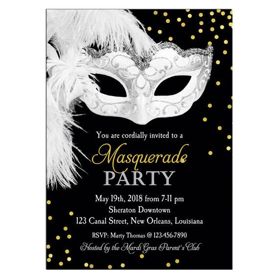 image relating to Free Printable Masquerade Invitations known as Masquerade Invitation Printable or Released with No cost