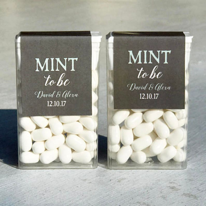 3a0a580b72 Personalized Mint to Be Tic Tac Topper Printable or Printed with FREE  Shipping - Gray and Mint
