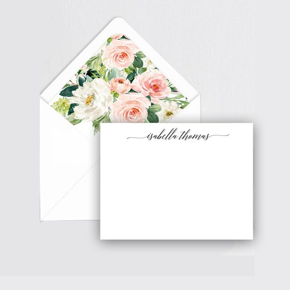 Personalized Stationary set Thank You Cards,Stationery Set Custom Stationery Gift for her Bridesmaid Gift Personalized Stationery set