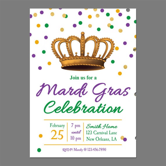 graphic regarding Free Printable Mardi Gras Invitations titled Mardi Gras Invitation Printable or Revealed with Free of charge