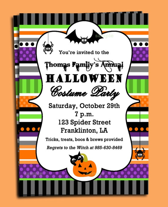 graphic about Free Halloween Invitation Printable named Halloween Invitation Printable or Revealed with No cost Delivery