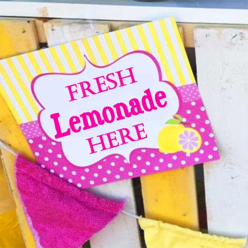 photograph about Lemonade Sign Printable identify Purple Lemonade Signal Printable - Prompt Obtain - Crimson Lemonade Range