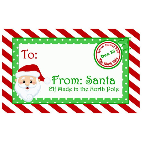 Personalized Christmas Morning Gift Tags Printable North ...