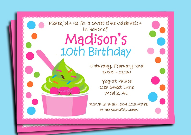 picture relating to Ice Cream Party Invitations Printable Free identify Yogurt or Ice Product Get together Invitation Printable or Posted with Cost-free Shipping and delivery - Yogurt Swirl Range