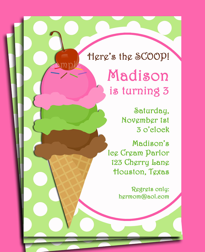 image regarding Ice Cream Party Invitations Printable Free named Ice Product Invitation Printable or Revealed with Cost-free Shipping and delivery - Crimson Bubble Gum upon Ultimate Choice