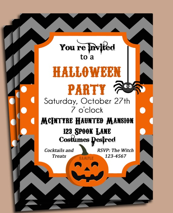 View Free Printable Halloween Party Invitations Gif