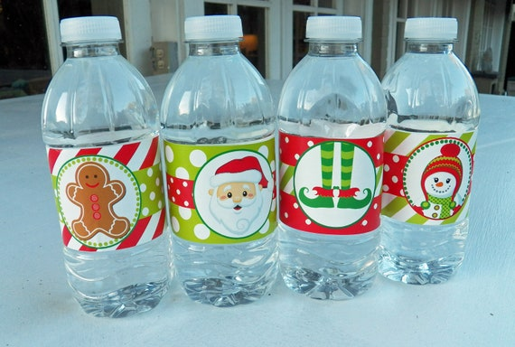 Christmas Water Bottle Wraps Printable Magic Of Christmas Etsy