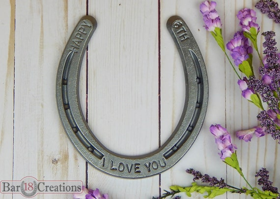 Traditional 6th Wedding Anniversary Gifts: Iron Anniversary Horseshoe 6th Traditional Anniversary