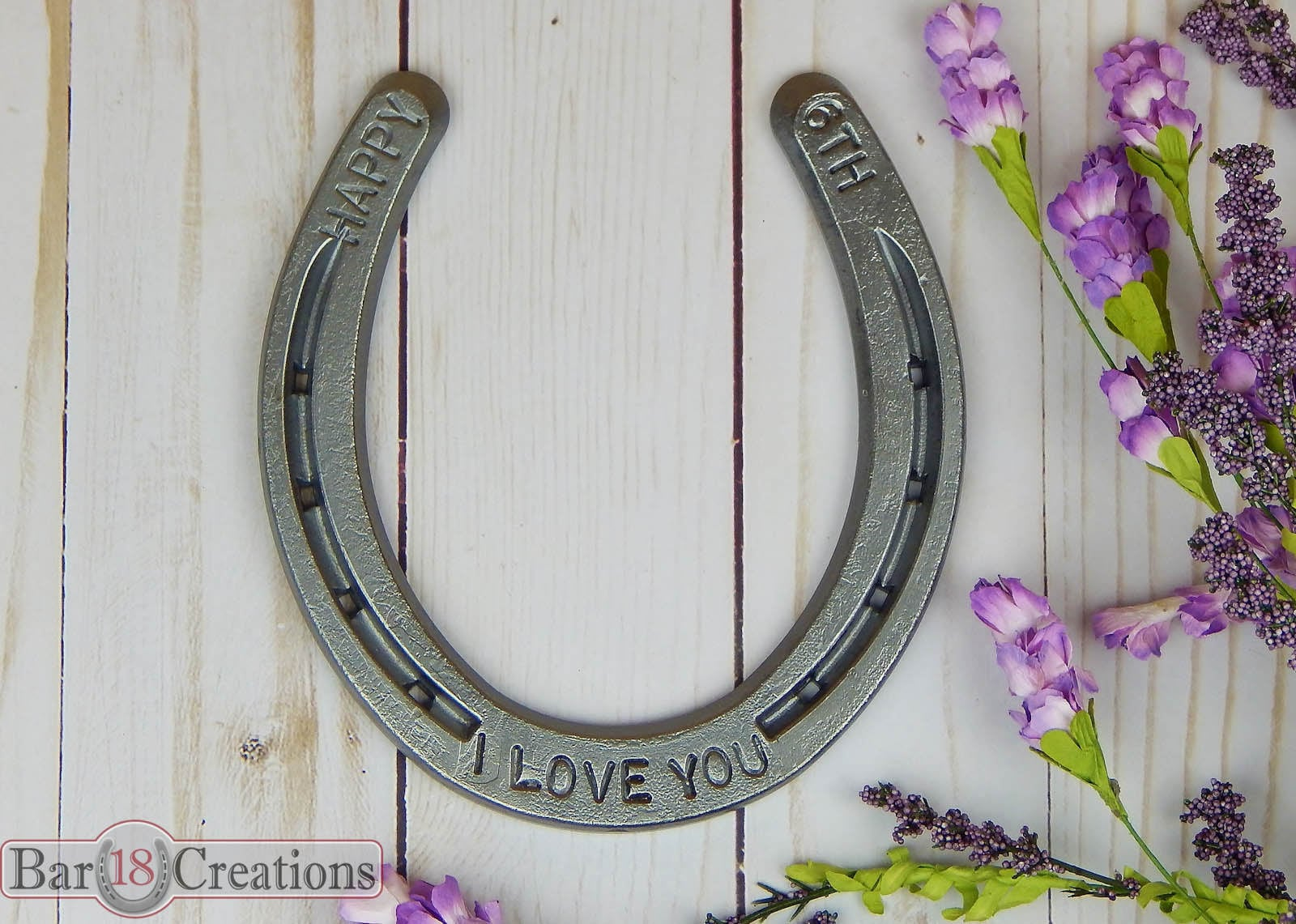 Sixth Wedding Anniversary Gift: Iron Anniversary Horseshoe 6th Traditional Anniversary
