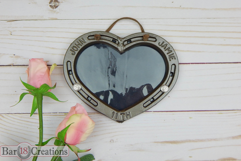 Hängende Hufeisen-Herz-Bilderrahmen personalisierte 6. oder | Etsy