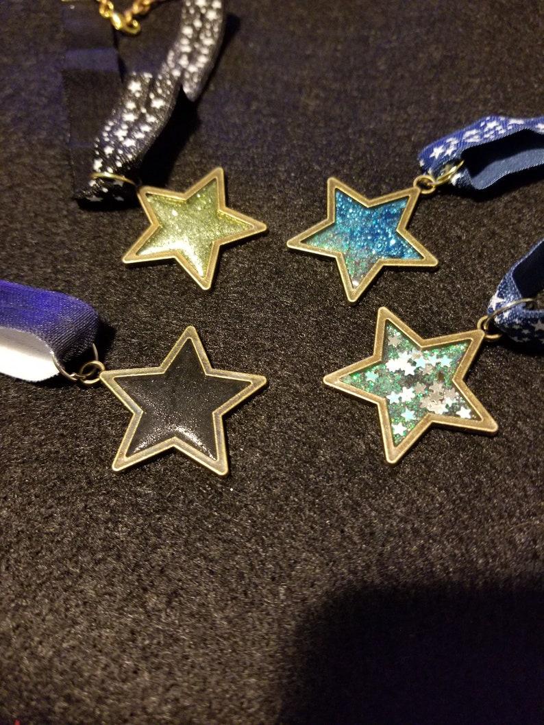 Resin Star Pendant Elastic Chokers
