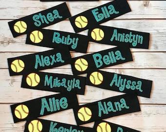 Custom Softball Headbands in gorgeous glitter! Team sets available! 2812d12e35d