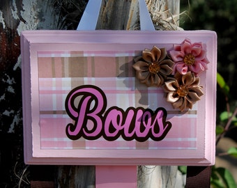 Beautiful girls bow holder for bows headbands clips baby shower birthday gift