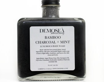 Gentle Charcoal Body Wash for Sensitive Skin