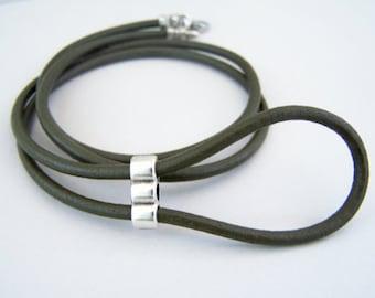 83b2d9a912fa6a Vert olive, cordon de lunettes, lunettes bague en cuir, lunettes, lunettes  chaîne, 28-36 pouces, support de lunettes oeil,