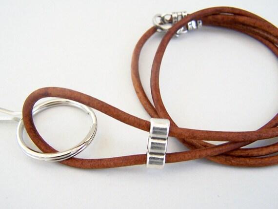 Women Lanyard Badge Holder Teal Color Lanyard Id Lanyard 3mm Leather Cord 26-36 inchs Leather Lanyard Eyeglass Lanyard Id Holder