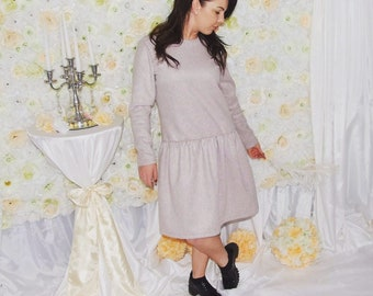 Woolen cashmere dress