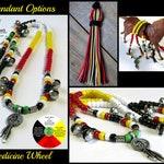Rhythm Beads for Horses,MEDICINE WHEEL, Trail Beads for Horses,Horse Necklace, Speed Beads, Horse Bells,Medicine Wheel Rhythm Beads