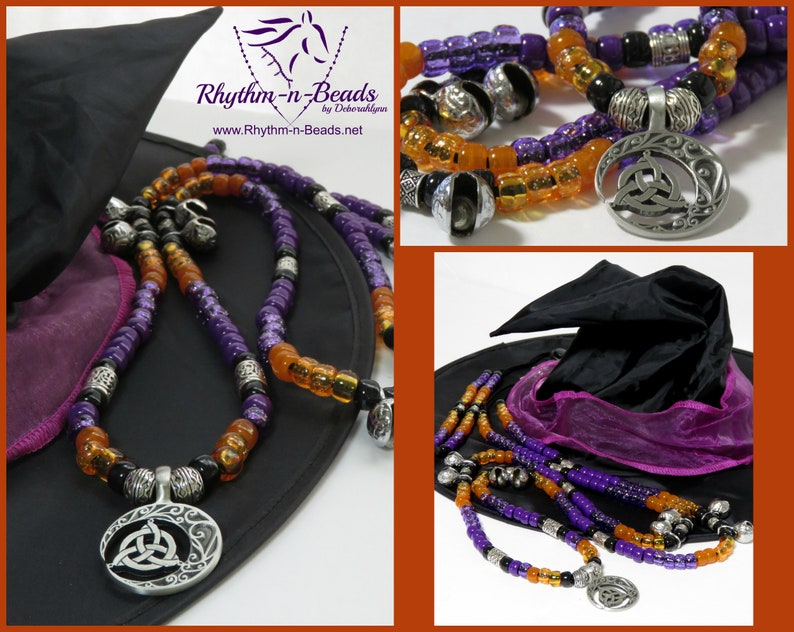 Halloween Rhythm Beads HARVEST MOON  Horse photo shoot image 0