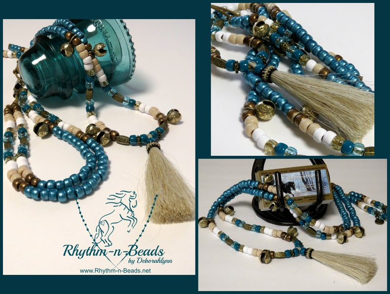 Rhythm Beads for Horses BLUE BAYOU Add Rhythm to Your Ride image 0