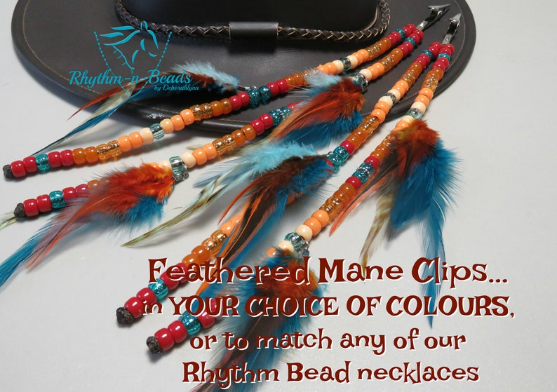 Custom-Pick your Colours  FEATHERED MANE BEADS  Rhythm Bead image 0