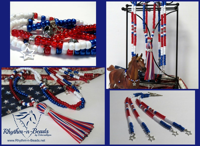 Rhythm Beads STARS & STRIPES 4th of July Parade tack for image 0