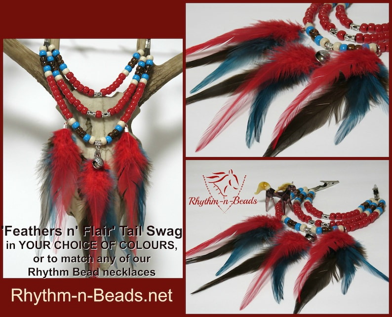 CUSTOM-Pick your ColoursTAIL SWAG  Horse Tail Feathers image 0