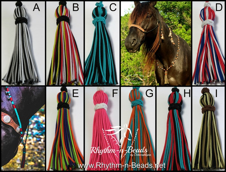TASSELS for your rhythm beads necklaceTassels Trail riding image 0