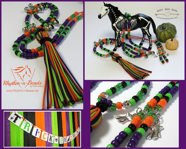 Halloween Rhythm Beads TRICK or TREAT Horse photo shoot image 0