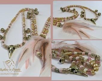 Bear Bells for horses, ROSE GOLD BLUSH , Rhythm Beads for Horses,Horse Necklace, Speed Beads, Natural Horsemanship,Horse Lovers, Horse Bells