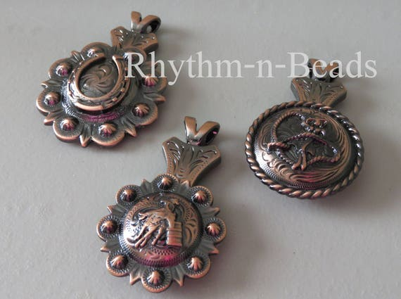 Concho Pendants For Your Rhythm Beads Necklace Horse Lovers